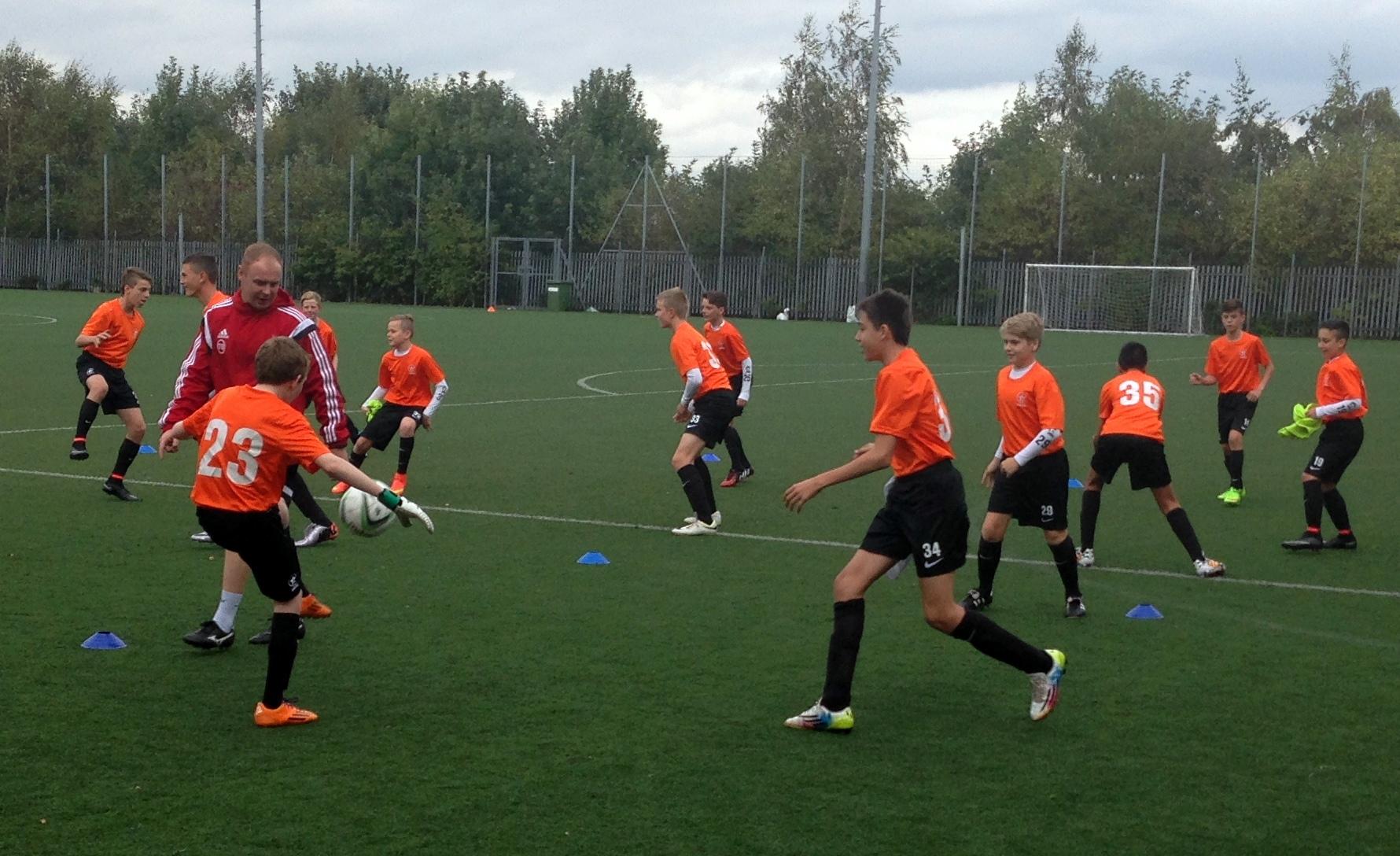 Training at Sheff Utd